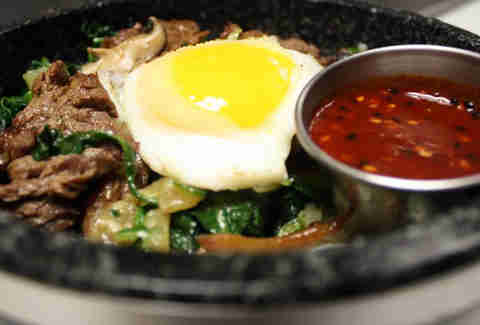 Hot stone Bibimbap at Ginger Exchange