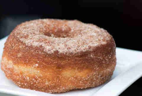 Sugar and cinnamon dusted cronut at Glazed and Infused
