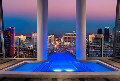 Pool at the Palms Casino in Las Vegas