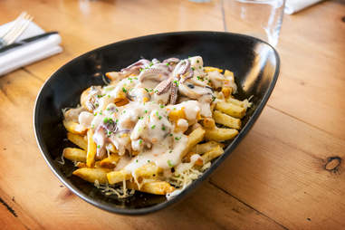 Seafood Poutine at Fish Public in San Diego.