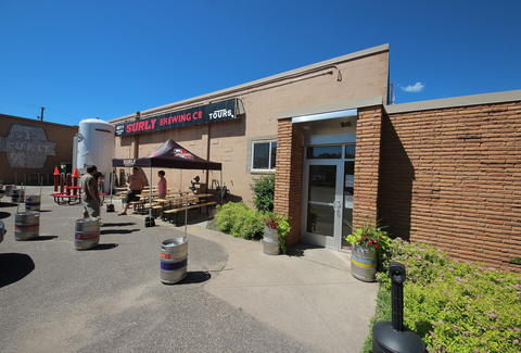 The exterior at Surly Brewing Taproom