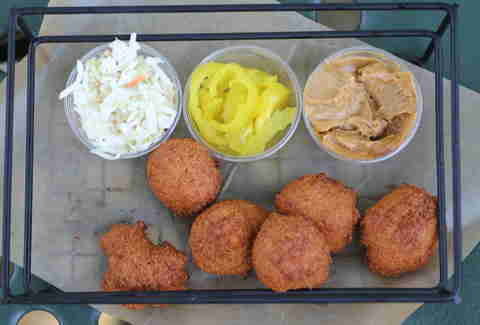 Hushpuppies at Doug Flicker's Sandcastle restaurant on Lake Nokomis in Minneapolis