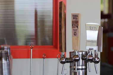 Wine taps at Doug Flicker's Sandcastle restaurant on Lake Nokomis in Minneapolis
