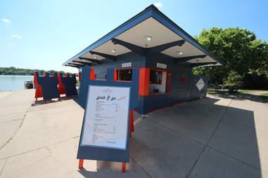 Sandcastle restaurant on Lake Nokomis in Minneapolis