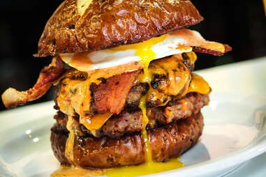 The 100% bacon 'Merica Burger at Slater's 50/50 in San Diego.