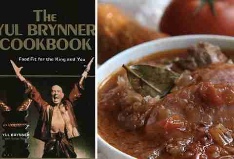 Yul Brynner cookbook.