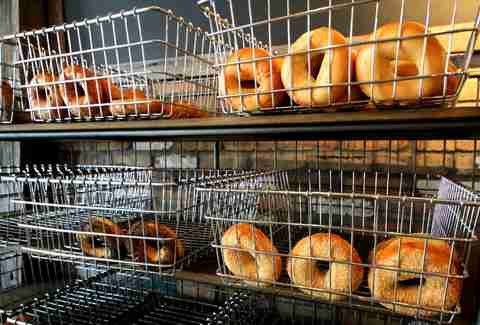 Bagels at Toasted Bagelry and Deli
