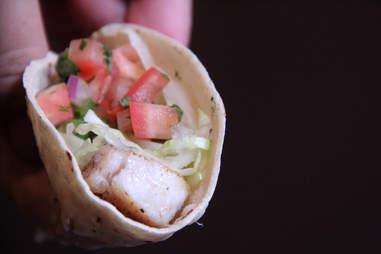 Mahi Mahi tacos from Serrano's Street Fare menu