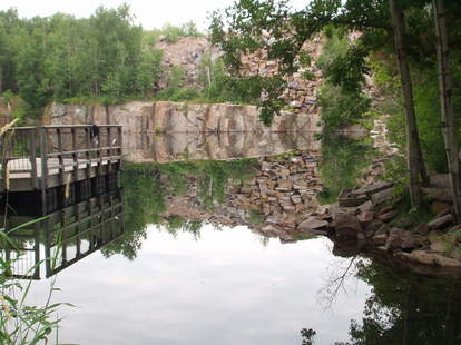 Quarry swimming hole