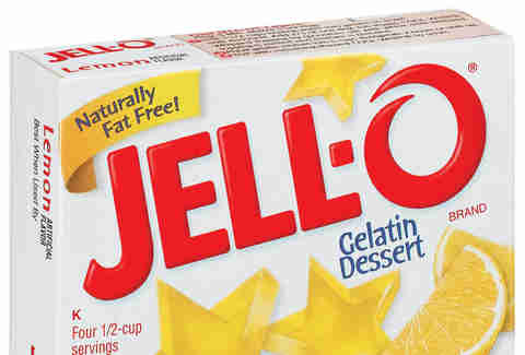 yellow JELL-O package