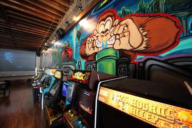 Emporium beer arcade in Wicker Park