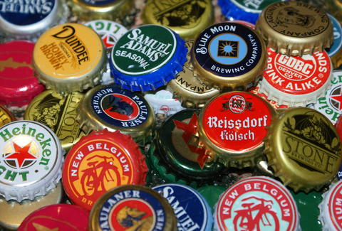 Beer bottle caps