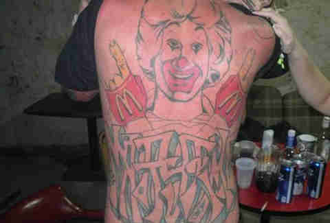 Ronald McDonald tattoo