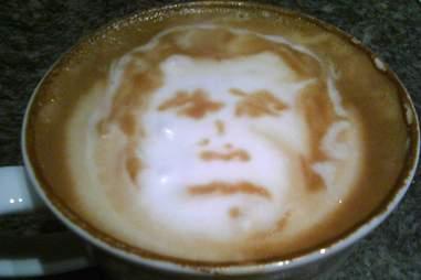 George W. Bush latte art