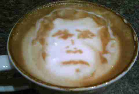 George W. Bush latte art