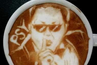 Psy latte art