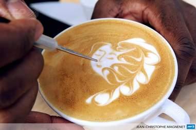 Female latte art