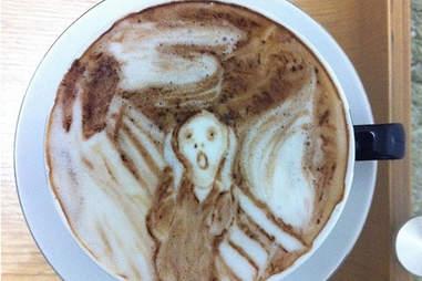 Scream latte art