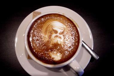 Predator latte art