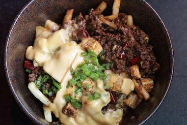 Mapo Tofu Cheese Fries
