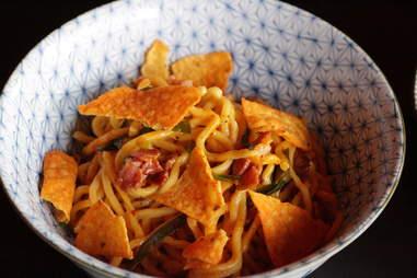 Kimchee Carbonara with Doritos part deux