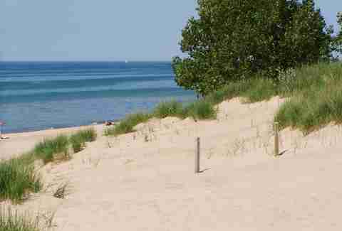 Dunes at Mount Baldy illinois