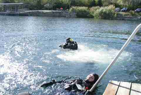 scuba diving at haigh quarry illinois
