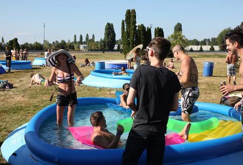 Portland meadows pop-up pool party