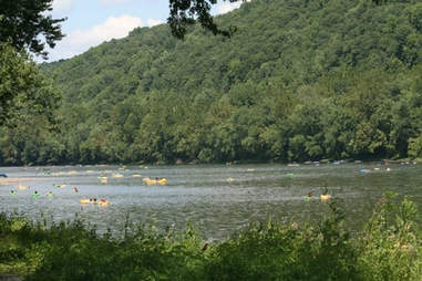 Tubing and boating bucks county river country pennsylvania