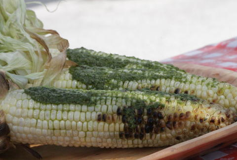 Pesto Corn on the grill - BK Bridge Park