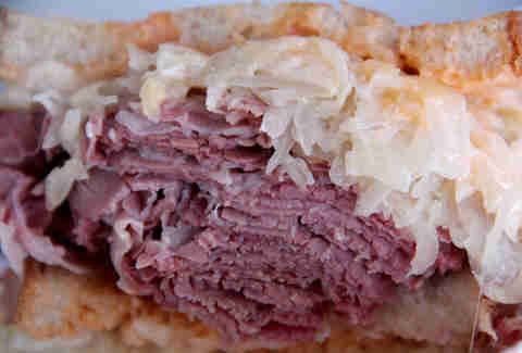 A classic Reuben from the Reuben on Rye truck