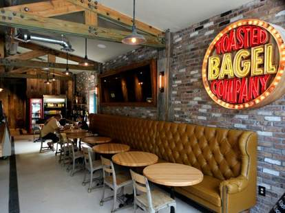 Toasted Bagelry interior