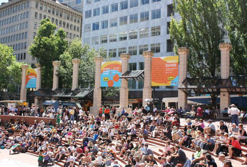 Pioneer Courthouse Square- Portland