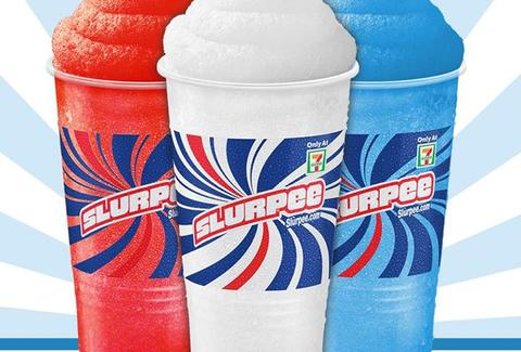 Slurpees in three flavors