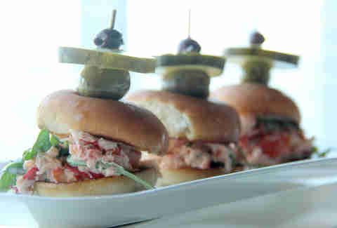 The tarragon lobster sliders at The Chelsea's Fifth Floor restaurant and bar