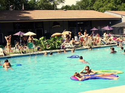 The pool at the Fraternal Order of Eagles