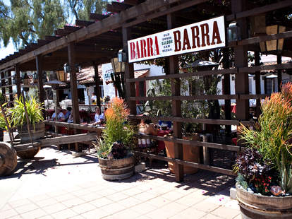 Exterior of Barra Barra Saloon in San Diego