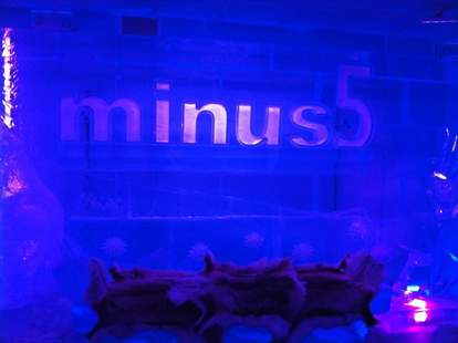 Sign at Minus5 Ice Bar