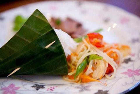 Som Tum With Sticky Rice at Tarad