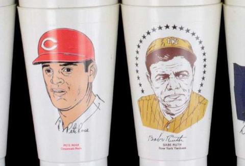 Pete Rose Babe Ruth Slurpee Cup