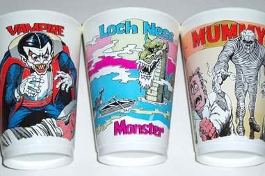 Dracula Loch Ness Monster Mummy Slurpee Cup