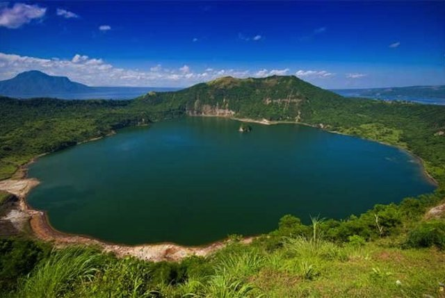 Main Crater Lake In The Taal Vocano In Luzon, Phillipines