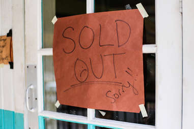 Franklin Barbecue sold out
