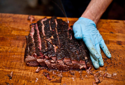 Franklin brisket slicing