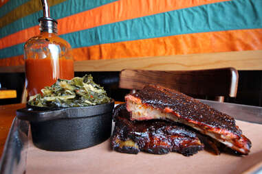 St. Louis spare ribs at County BBQ in Little Italy