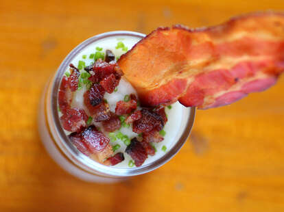 Bacon parfait at County BBQ in Little Italy