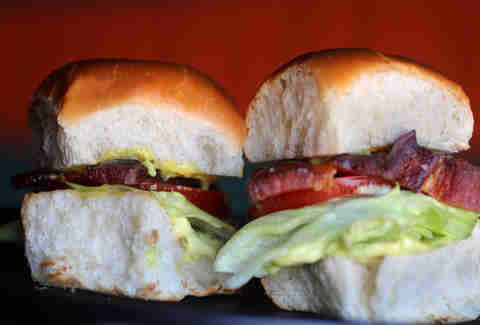 B.L.T. sliders at County BBQ in Little Italy