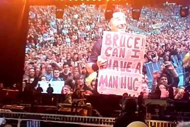 Bruce Springsteen man hug