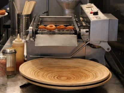 Donuts Being Made at Pip's Original