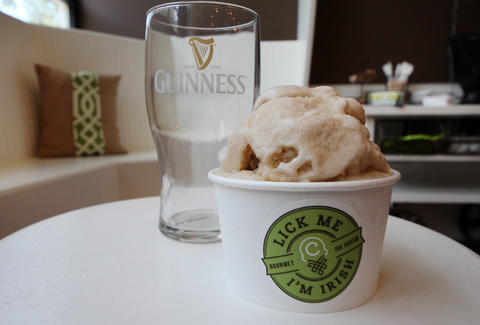 Guinness ice cream at Cone in the West Loop